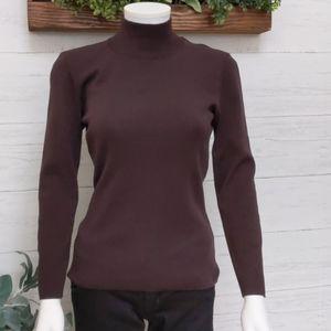 Vintage Escada brown turtleneck sweater size mediu